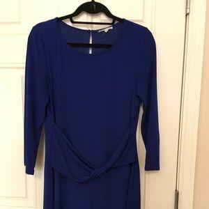 41 Hawthorn 3/4 Sleeve Blue Tunic dress size L